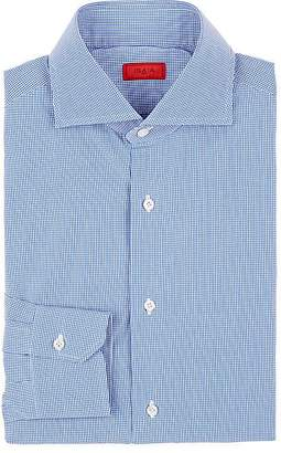 Isaia Men's Micro-Checked Cotton Shirt