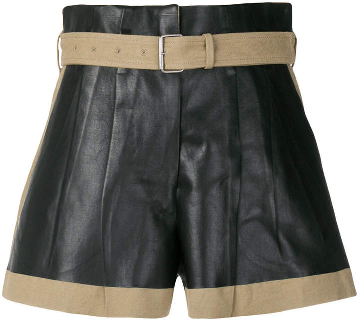 contrast biker shorts