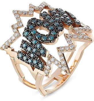 Diane Kordas WOW! 18kt Rose Gold Ring with Diamonds