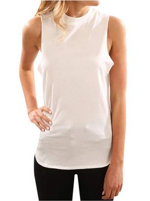 YONYWA Fashion Women Solid Tops Sleeveless Casual Blouse Summer