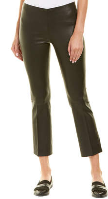 Vince Stretch Leather Flare Pant