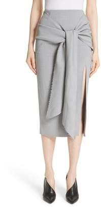 Jason Wu Raw Hem Tie Front Skirt