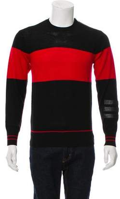Ovadia & Sons Merino Wool Leather-Trimmed Sweater w/ Tags