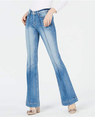 Flying Monkey Pleat-Stitch Flare-Leg Jeans