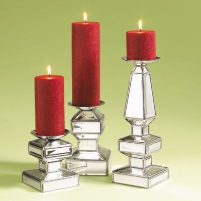 Mirrored Candle Holders