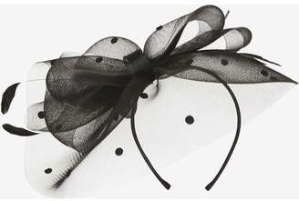 Dorothy Perkins Womens **Showcase Black Spotted Crin Bow Fascinator