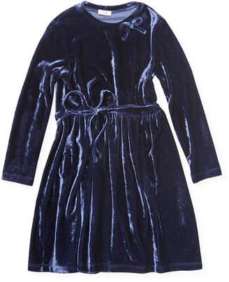 Il Gufo Solid Textured Bow Dress