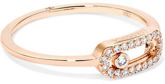 Möve Messika Uno 18-karat Rose Gold Diamond Ring