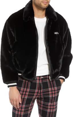Represent Faux Fur Bomber Jacket