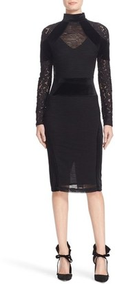 Women's Tracy Reese Triple Threat Lace & Velvet Combo Dress $348 thestylecure.com