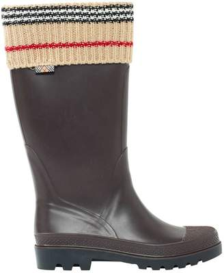 Burberry Brown Plastic Boots