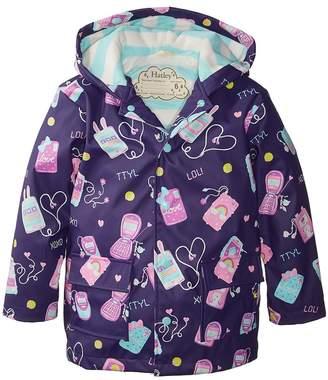 Hatley Cool Phones Raincoat Girl's Coat