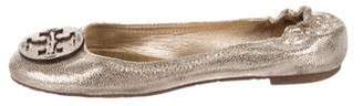Tory Burch Leather Round-Toe Flats