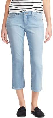Chaps Women's Faded Slim Capri Jeans