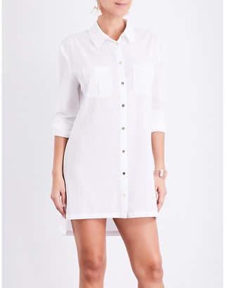 Heidi Klein Maine oversized woven shirt dress $152 thestylecure.com