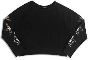 Terez Girls' Metallic Star Sweatshirt - Big Kid