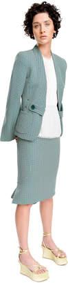 Max Studio mini-geo jacquard jacket