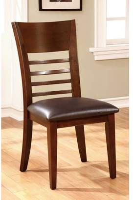 Furniture of America Jenson Transitional Ladder-Back Dining Chair, Brown Cherry, 2pk