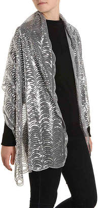 Betsey Johnson Sequin Scallop Wrap - Women's
