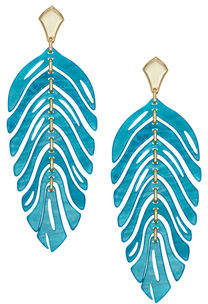 Kendra Scott Lotus Earrings w/ Colored Drop