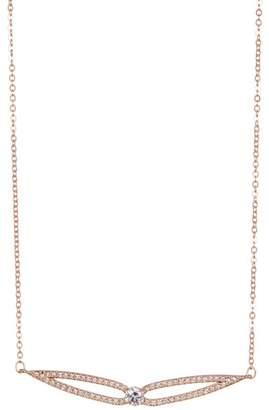Swarovski 18K Rose Gold Plated Crystal Pendant Necklace