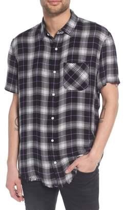 The Rail Drapey Plaid Short Sleeve Shirt