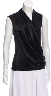 Magaschoni Sleeveless Cowl Neck Top