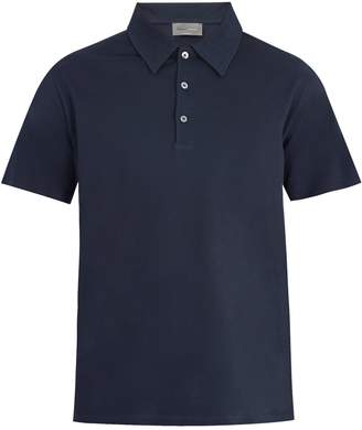 Kilgour Point-collar cotton-piqué polo shirt