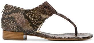 Antonio Barbato snakeskin effect open toe sandals