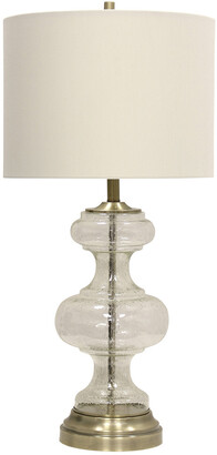 Stylecraft Style Craft 33In Seeded Glass Table Lamp