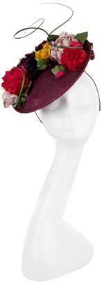 Rachel Trevor-morgan Floral Detailed Straw Disc