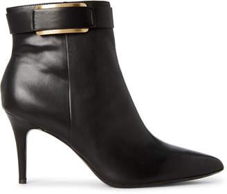 Calvin Klein Black Georgene Leather Ankle Booties