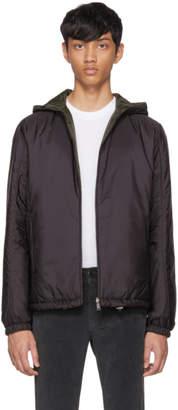 Prada Reversible Black Nylon Hooded Jacket