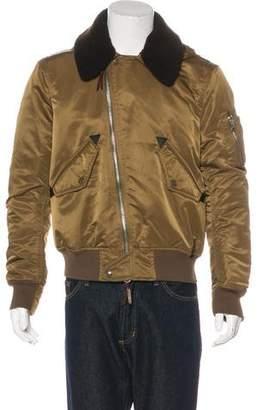 Burberry Woven Bomber Jacket