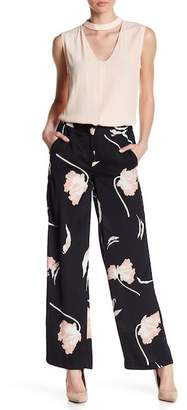 1 STATE 1.State Flat Front Floral Print Wide Leg Pants