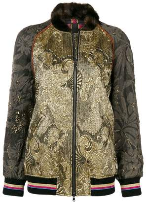 Etro embroidered detail fitted jacket