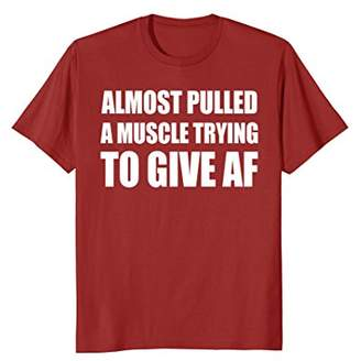 Abercrombie & Fitch Almost pulled a muscle trying to give shirt