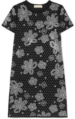 MICHAEL Michael Kors Embellished Crepe Mini Dress - Black