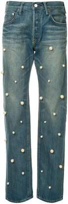 Tu Es Mon Trésor Big Pearl Antique jeans