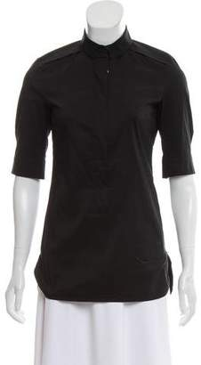 Strenesse Zip-Up Short Sleeve Top