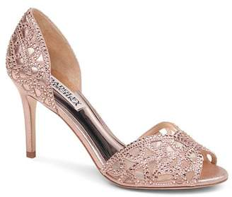 Badgley Mischka Women's Harris Embellished Leather & Mesh d'Orsay High-Heel Pumps