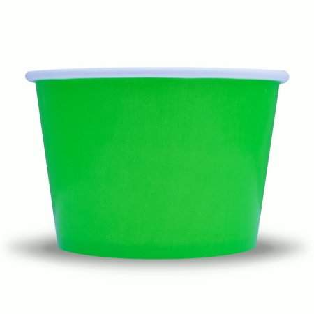 Frozen Dessert Supplies 8 oz Green Paper Ice Cream Cups - Comes In Many Colors & Sizes! Fast Shipping! 50 Count