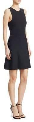 Theory Women's Fit-&-Flare Knit Dress - Black - Size Small