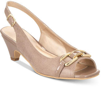 Karen Scott Arlena Slingback Peep-Toe Pumps, Created for Macy's Women's Shoes