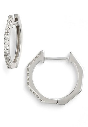 Women's Bony Levy Diamond Geometric Hoop Earrings (Limited Edition) (Nordstrom Exclusive) $1,195 thestylecure.com