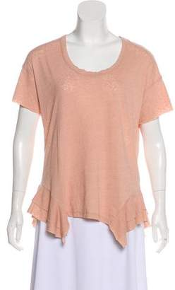 Current/Elliott Short Sleeve Asymmetrical Top