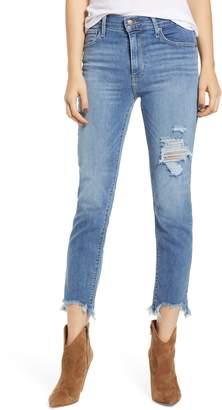 Levi's 724(TM) Ripped High Waist Raw Edge Crop Jeans