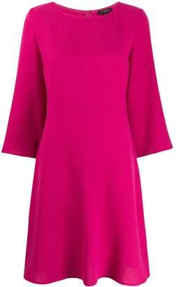 Antonelli boat-neck flared dress