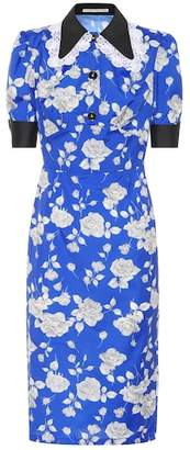 Alessandra Rich Floral-printed taffeta dress