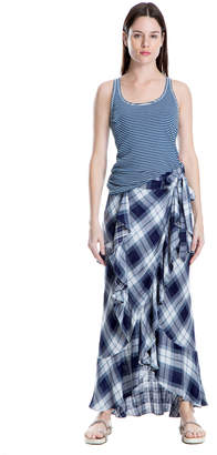 Max Studio plaid maxi skirt